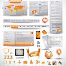 网页设计矢量图片