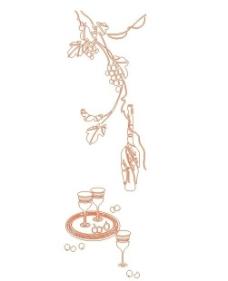 葡萄 杯子图片