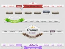 网页导航菜单标签设计图片