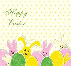 复活节彩蛋背景图片