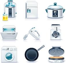 厨房家用电器图标图片
