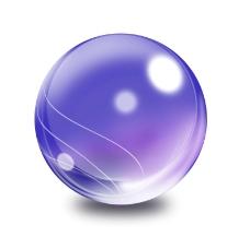 紫色水晶球图片