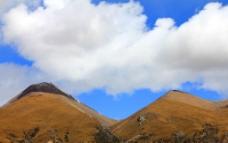 青藏高原 蓝天白云图片