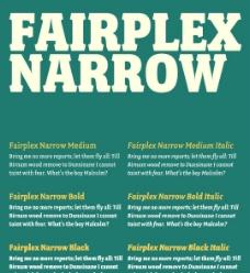 Fairplex系列字体下载