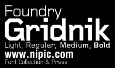 Foundry Gridnik系列字体下载
