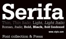 Serifa系列字体下载