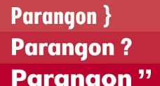 Parangon系列字体下载