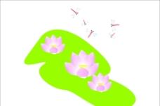 蜻蜓戏荷图片
