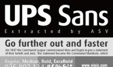 UPS sans系列字体下载