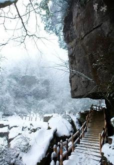 巨石 雪图片