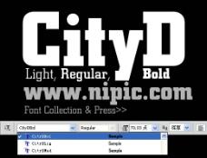 cityd系列字体下载