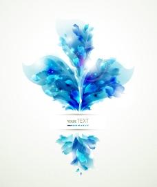 蓝色动感梦幻花纹图片