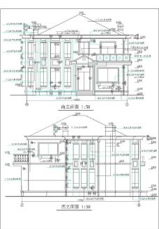 现代风格住宅图纸图片