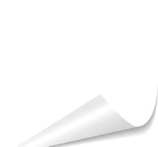 空白的卷角纸张图片