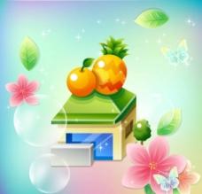 卡通水果店图片