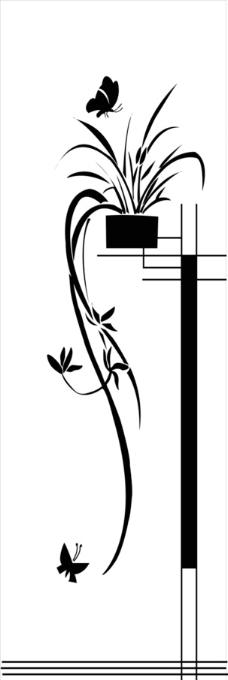 古典花纹花边矢量素材图片,角花 对花 装饰花 欧式-图