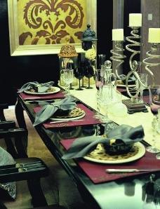 样板房 餐桌 餐厅图片