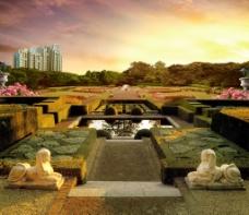 房地产法式景观图片