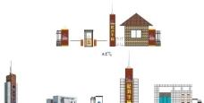 小区大门设计图片