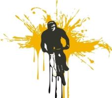 剪影 自行车图片