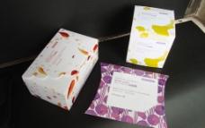 化妆棉纸盒包装设计图片