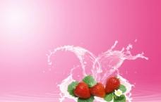 草莓背景圖片