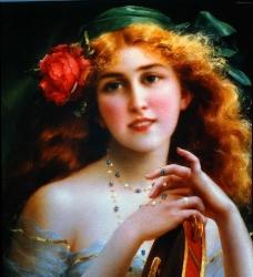 油画女人图片