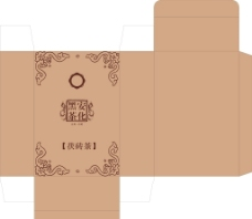 黑砖茶纸盒包装图片
