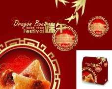 欧式经典传统端午粽子包装设计图片