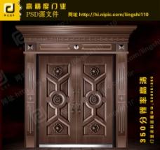 铜门(门为合层图)图片