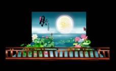 中秋荷塘景观图片