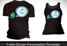 小鸟对话泡泡t恤背景设计图片
