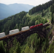 货运火车图片