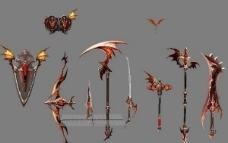 各种武器集合模型图片