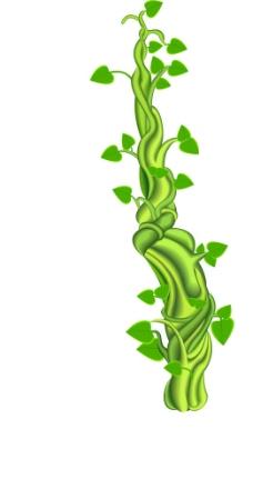 缤纷植物动物剪影矢量素材图片