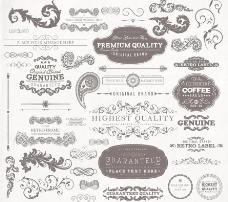 欧式花纹边框装饰设计图片
