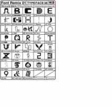 可爱的图形字体 象形字体