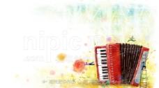 手绘手风琴图片