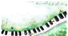 钢琴插画图片