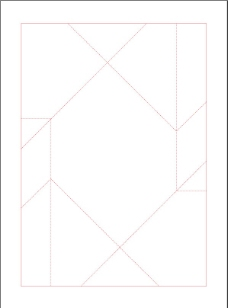 包装盒型刀模图图片