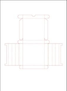 包装盒型展开图图片