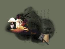 夜雨书灯图片