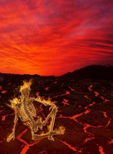 地狱骷髅图片