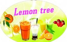 柠檬树咖啡奶茶灯箱