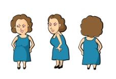 胖女人漫画搞笑图片