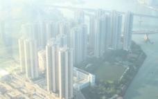 香港酒店顶层早晨海景图片