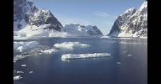 漂浮在水中的冰块