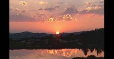 夕阳下的美丽风景