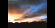 天空日出云彩