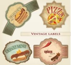 怀旧食品标签图片